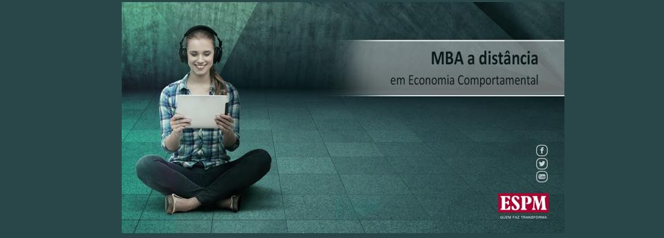 Processo seletivo para o MBA em Economia Comportamental EAD